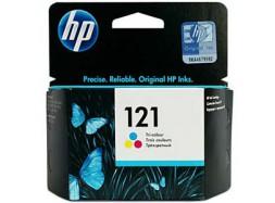 Оригинальный струйный цветной картридж HP - 121, Color