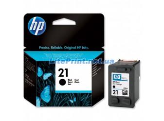 Оригинальный струйный черный картридж HP - 21, Black