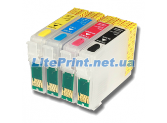 Комплект ПЗК для Epson - Refill4 - SX525WD, SX430W, SX435W, SX438W, SX440W