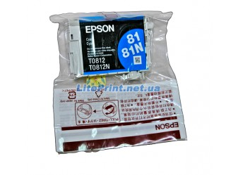 Оригинальный картридж Epson T0812, Cyan