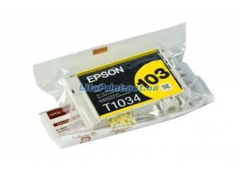 Оригинальный картридж Epson T1034, Yellow