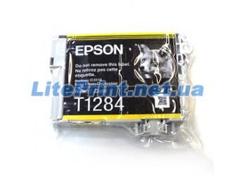 Оригинальный картридж Epson T1284, Yellow