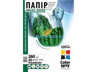 ColorWay - глянец двустор 260 гм2, А4, 20 листов