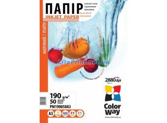 ColorWay - матовая 190 гм2, А3, 50 листов