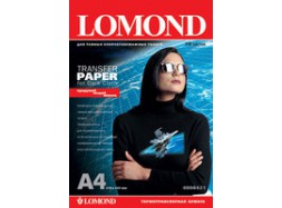 Lomond - Ink Jet Transfer Paper for Dark Cloth, 140 гм2, A4, 10 листов