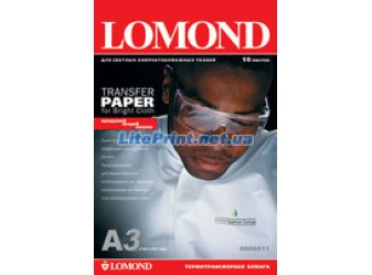 Lomond - Ink Jet Transfer Paper for Bright Cloth, 120 гм2, A3, 50 листов