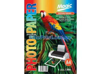 Magic - Глянцевый холст натуральный хлопок (белая обратная сторона) 360 гм2, A4, 5 листов