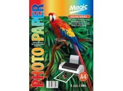 Magic - Матовый холст натуральный хлопок (бежевая обратная сторона) 380 гм2, A4, 5 листов