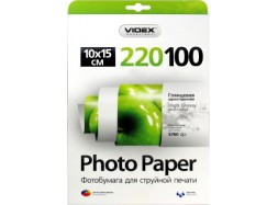 Videx - Глянец 220 гм2, 10x15, 100 листов
