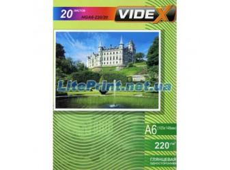Videx - Глянец 220 гм2, 10x15, 20 листов