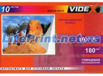 Videx - самоклеющаяся глянец 180 гм2, 10x15, 10 листов