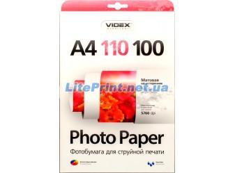 Videx - Матовая 110 гм2, A4, 100 листов