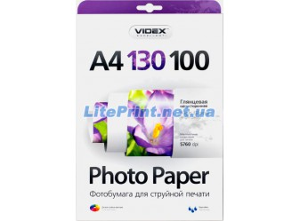 Videx - Глянец 130 гм2, A4, 100 листов