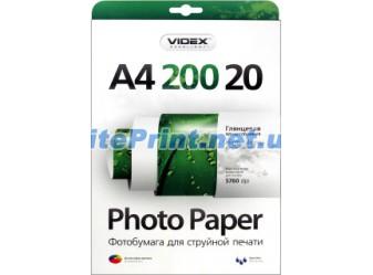Videx - Глянец 200 гм2, A4, 20 листов