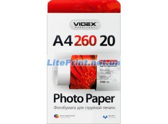 Videx - Глянец 260 гм2, A4, 20 листов