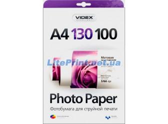 Videx - Матовая 130 гм2, A4, 100 листов