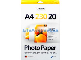 Videx - Глянцево-матовая 230 гм2, A4, 20 листов