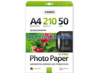 Videx - Глянец 210 гм2, A4, 50 листов